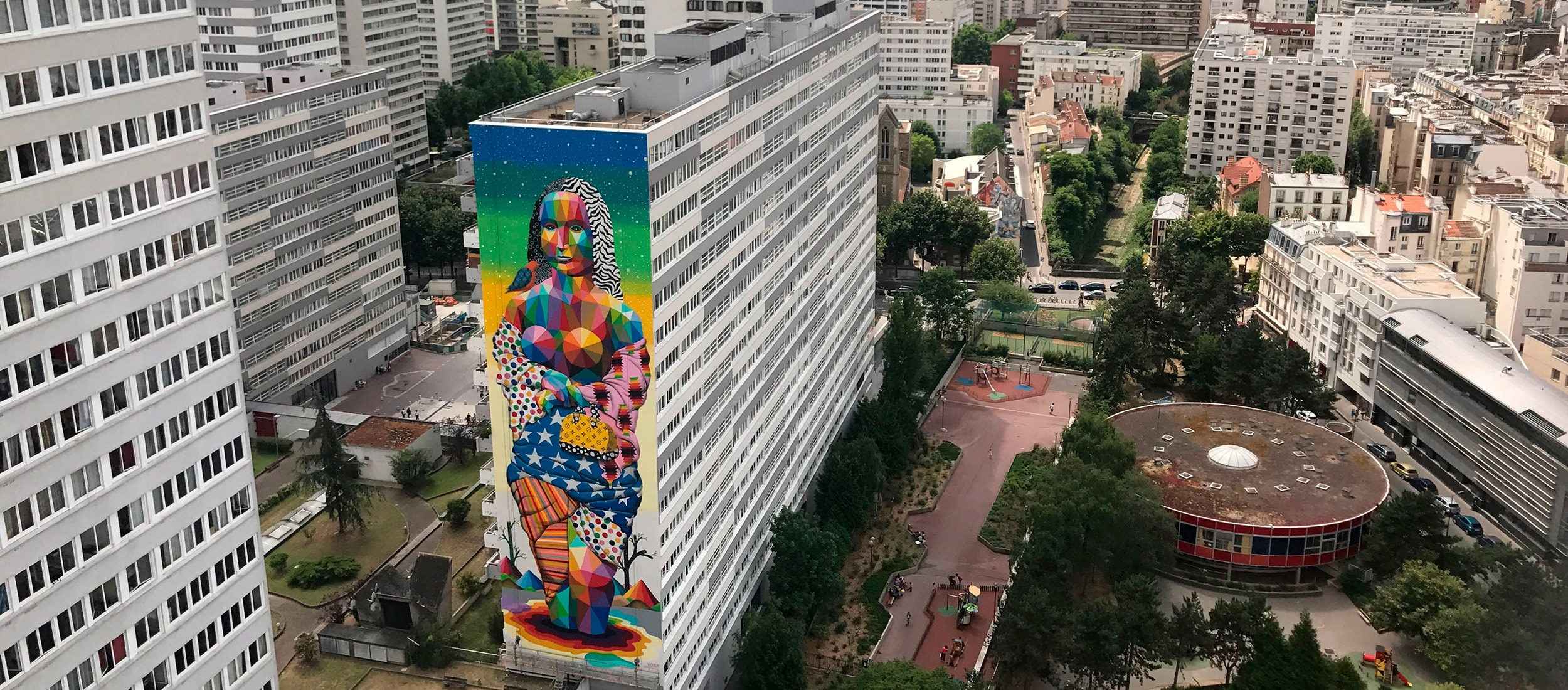 The New Gioconda - Okuda San Miguel - Ink and Movement
