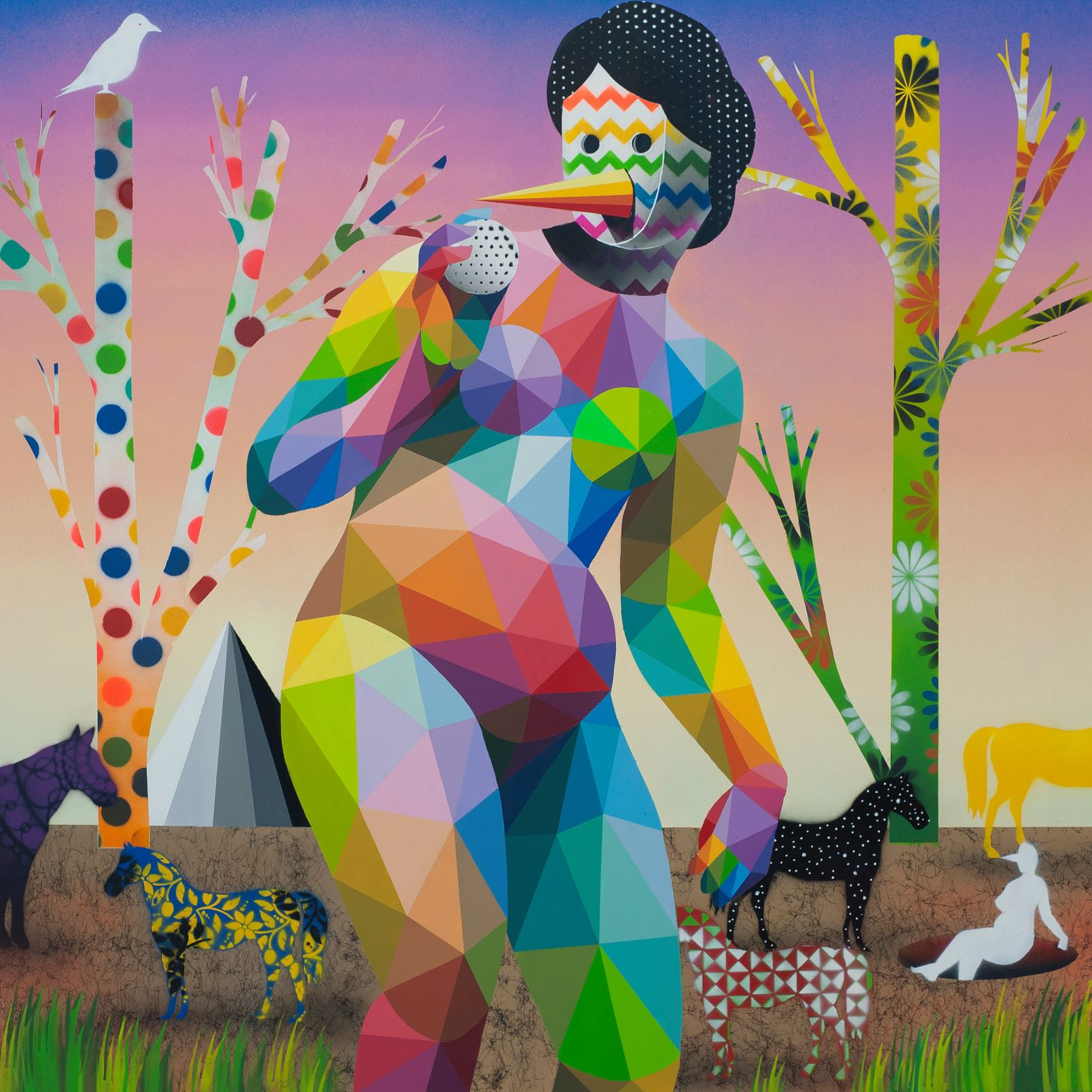 The Dream of Mona Lisa - Okuda San Miguel - Ink and Movement