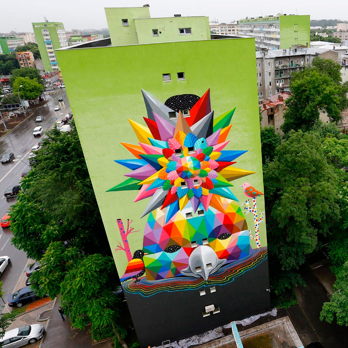 Bird of Freedom Paradise - Okuda San Miguel - Ink and Movement