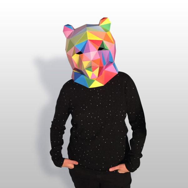 Bear Mask  -- Okuda San Miguel