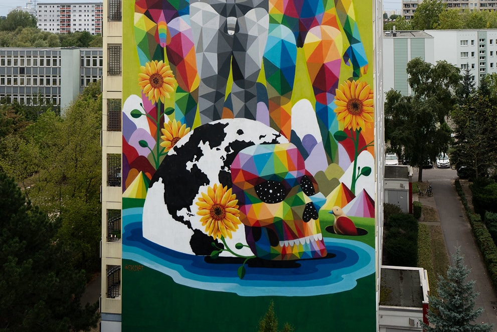 Okuda San Miguel - Modern Family - Berlin Mural Fest - Ink and Movement