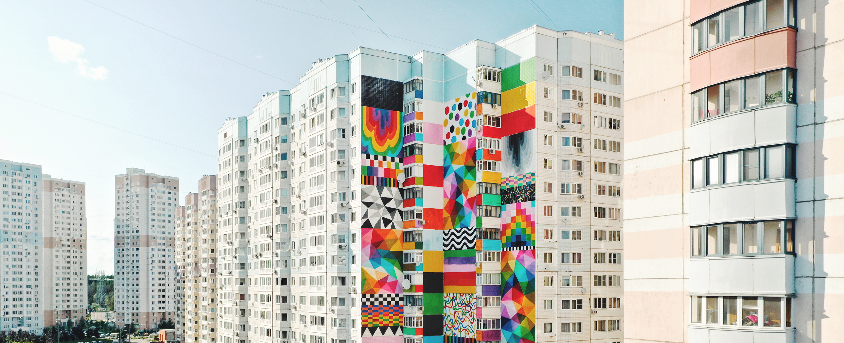 Okuda San Miguel – Flags of Freedom – Urban Morphogenesis – Ink and Movement