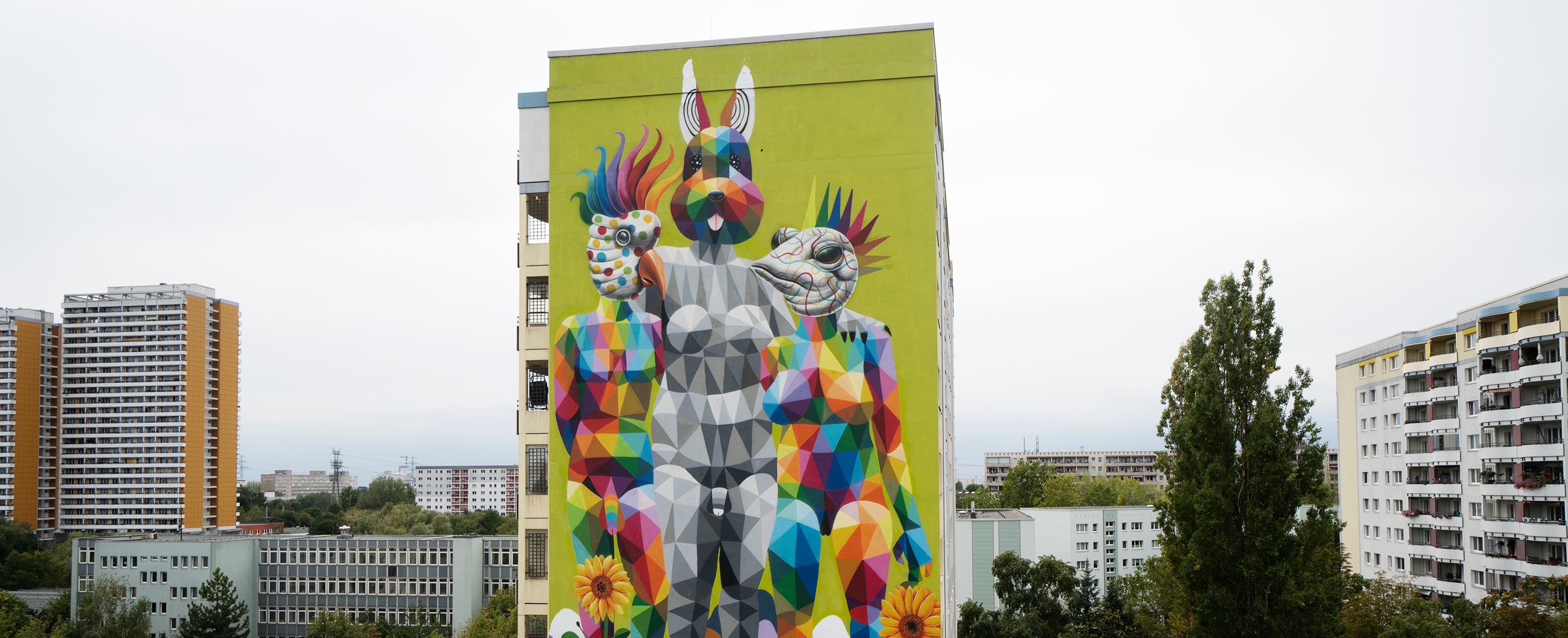 Okuda San Miguel – Modern Family – Berlin Mural Fest – Ink and Movement