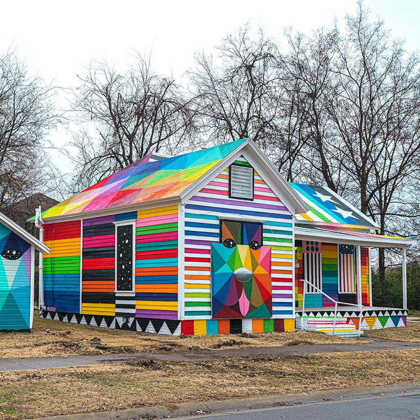 Rainbow Embassy -- Okuda San Miguel -- Ink and movement
