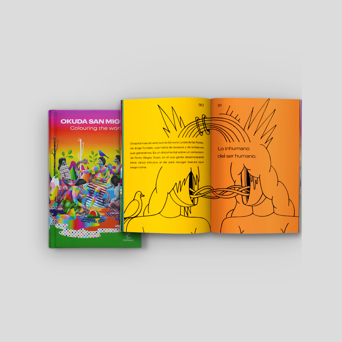 Okuda San Miguel -- Colouring the world (book)-- Ink and movement