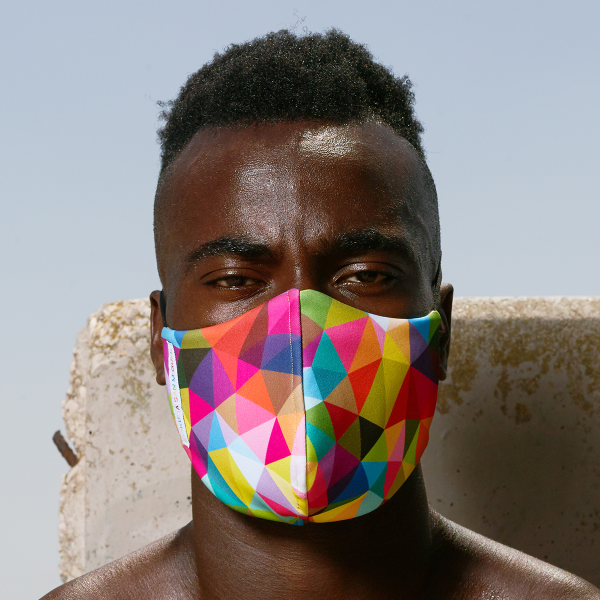 Triangles Mask - Okuda San Miguel - Ink and Movement