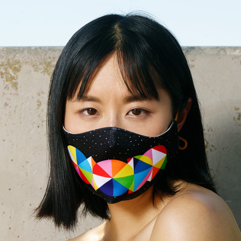Letters Mask - Okuda San Miguel - Ink and Movement