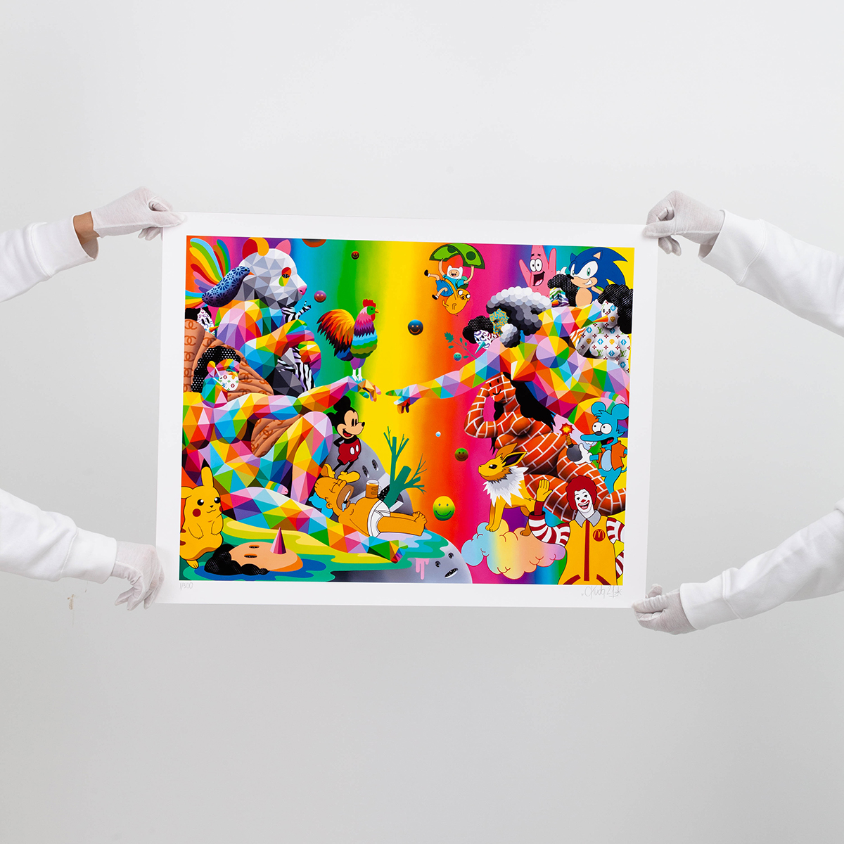 Print Okuda San Miguel Living into 2 worlds at once